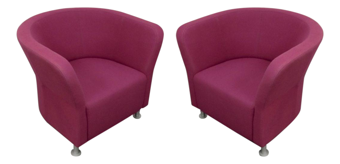Home Seating Accent Chairs Magenta HON Flock Round Lounge Chairs - A ...