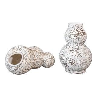 Roy Hamilton Ceramic Pieces - a Pair