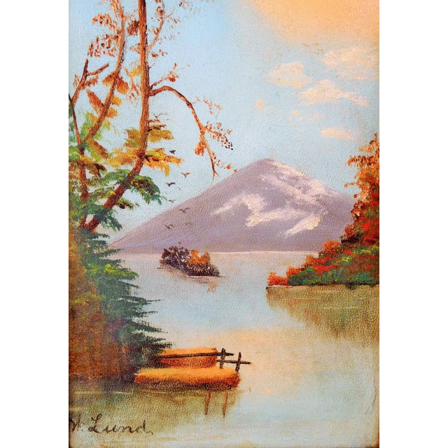 Acrylic Landscape Painting of Mountain N Lund - Image 3 of 5