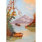 Image of Acrylic Landscape Painting of Mountain N Lund