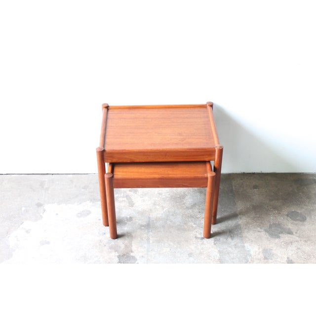 Teak Nesting Tables - A Pair - Image 3 of 4