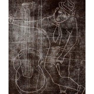 "R. Delamater ""The Musician I"" Original Monotype"