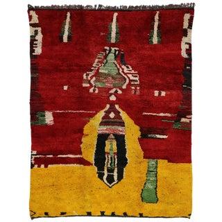 Moroccan Contemporary Abstract Design Berber Rug - 8′8″ × 11′2″