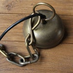 Image of Vintage Solid Brass Bell Lamp