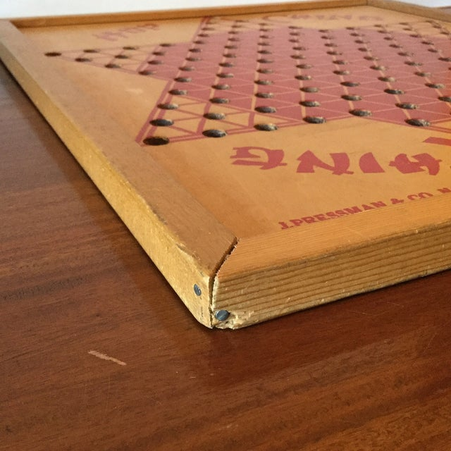 Vintage Wooden Chinese Checkers Board - Image 7 of 11