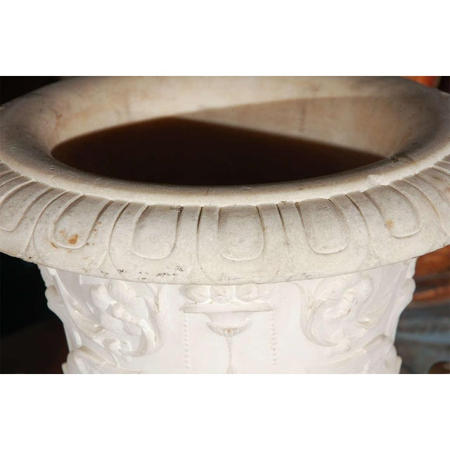 Image of Italian Cararra Marble Urn