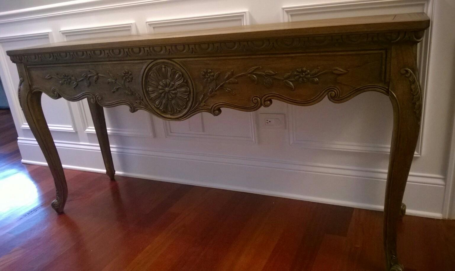 Vintage Hekman Console Sofa Table   Image 2 Of 7