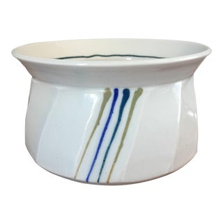 Vintage White Studio Pottery Bowl