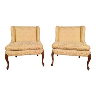 Upholstered Side Accent Chairs - A Pair