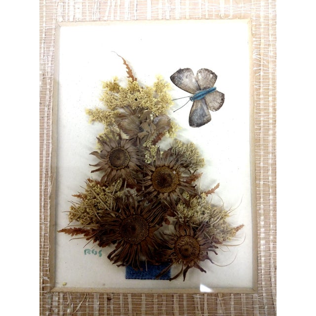 Mid-Century Botanical Flower Art Pieces - A Pair - Image 5 of 7