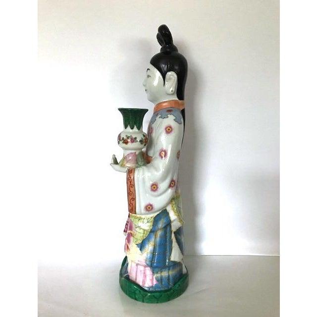 Gump's of San Francisco Vintage Oriental Candle Holder - Image 3 of 6