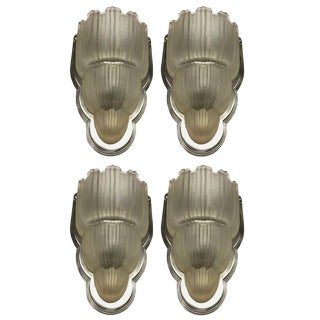 Sabino Signed French Art Deco Sconces - Set of 4