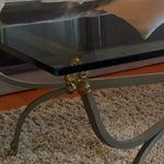 Image of Maison Jansen Style Rectangular Metal Coffee Table