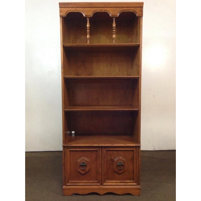 Image of Antique Carved Oak Bookcase
