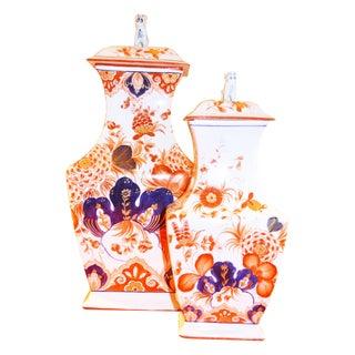 Italian Meiselman Foo Dog Vases - Pair