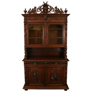1880 Antique French Hunting Buffet