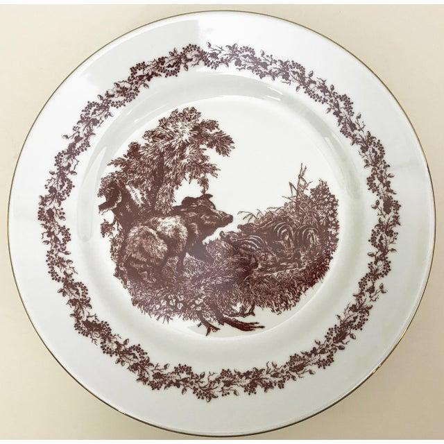 Black Forrest Theme Jlmenau Graf Von Henneberg Dinnerware - 22 Pieces - Image 6 of 11
