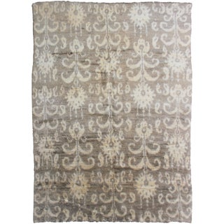 Hand Knotted Ikat Rug - 8′ × 10′1″