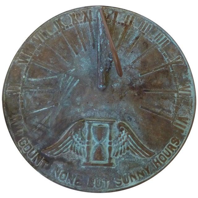 Image of Bronze Art Deco Sun Dial
