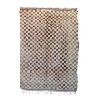 "Vintage Beni Ourain Moroccan Rug - 5'3"" x 7'3"""