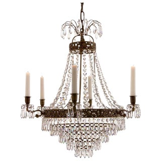 Empire 6 Arm Ebony Drop Chandelier