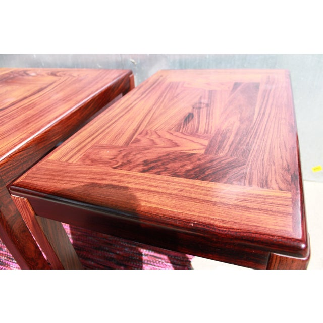 1960s Danish Rosewood Coffee & End Tables - Set of 3 - Image 7 of 10