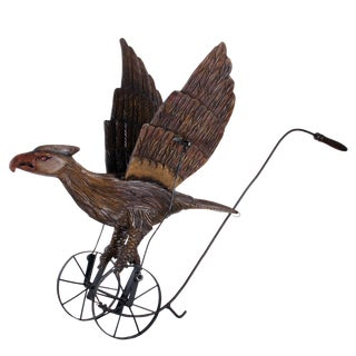 Antique Mechanical Eagle Push Toy