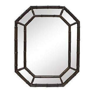 Black & Gold Speckled Bamboo Mirror