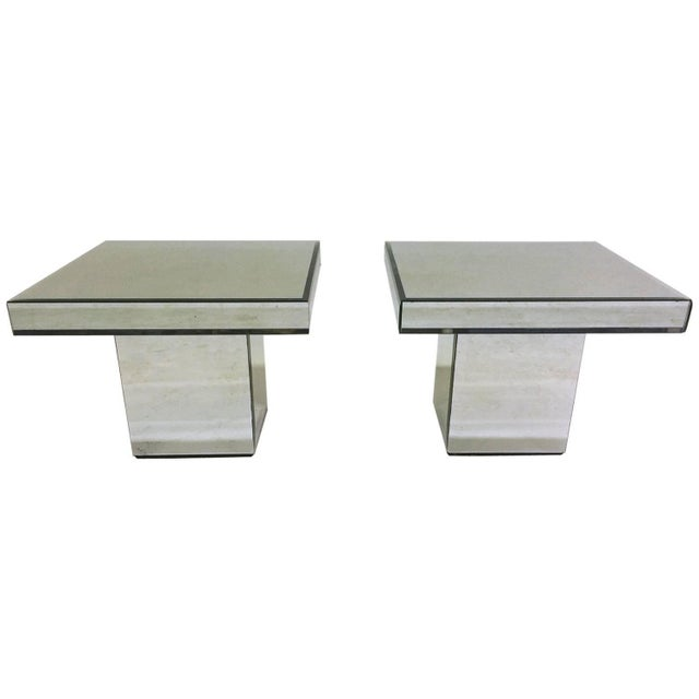 Mirrored End Tables - A Pair - Image 1 of 5
