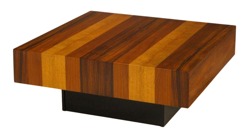 Danish Exotic Wood Parquetry Top Square Coffee Table   Image 1 Of 6