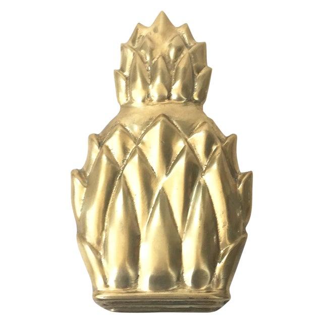 Image of Vintage Brass Pineapple Door Knocker