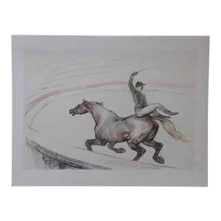 "Vintage ""The Circus"" Toulouse Lautrec Lithograph"