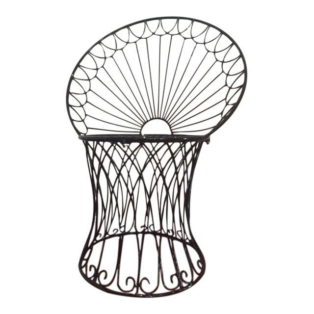 Vintage BoHo Metal Peacock Chair - Image 1 of 6