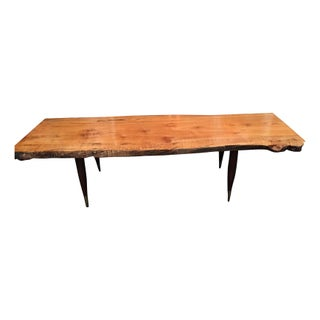 Reclaimed Maple Wood Top Coffee Table
