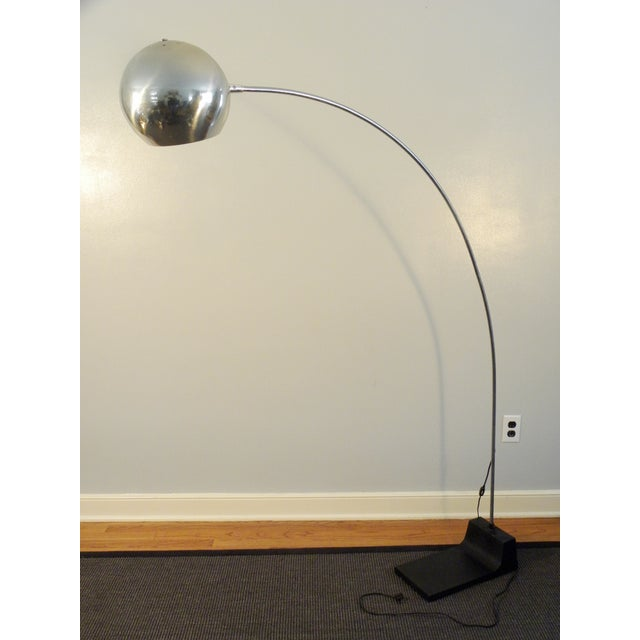 Vintage MCM Arch Chrome Eye Ball Lamp - Image 3 of 7