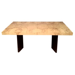 Milo Baughman-Attributed Burl Dining Table