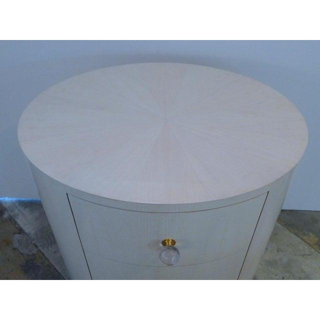Italian-Inspired 1970S Style Oval Nightstand - Image 3 of 8