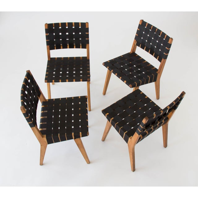 Jens risom for knoll dining chairs set of 4 chairish - Jens risom dining chairs ...