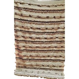 """Sequined Moroccan Handira Wedding Blanket - 76.5"""" X 51.5"""""""