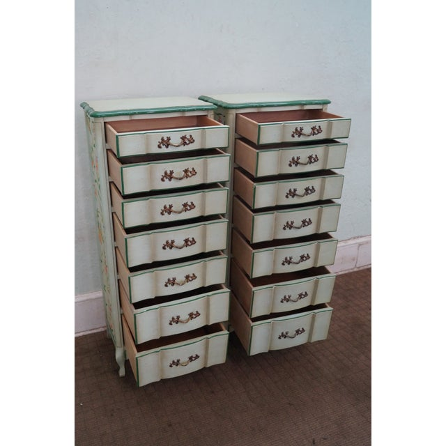 Permacraft Painted & Upholstered Chests - A Pair - Image 5 of 10