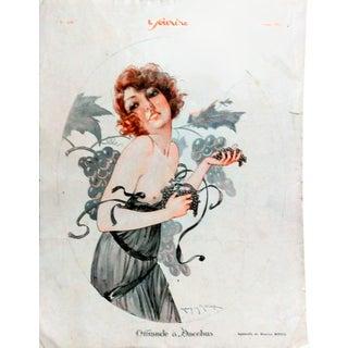"""Milliere 1925 Le Sourire """"L'Offrande a Bacchus"""" Print"""