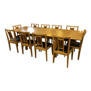 Robert Stangler Argus Dining Table & McCormick Chairs - Set of 11