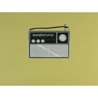 Vintage Philco Transistor Radio Painting