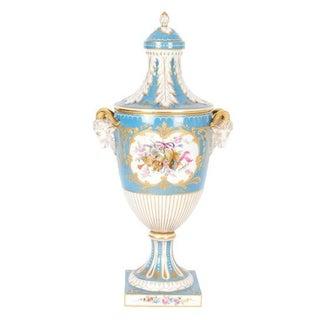 Antique Dresden Porcelain Covered Urn