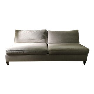 Armless Two Seat Upholstered Sofa