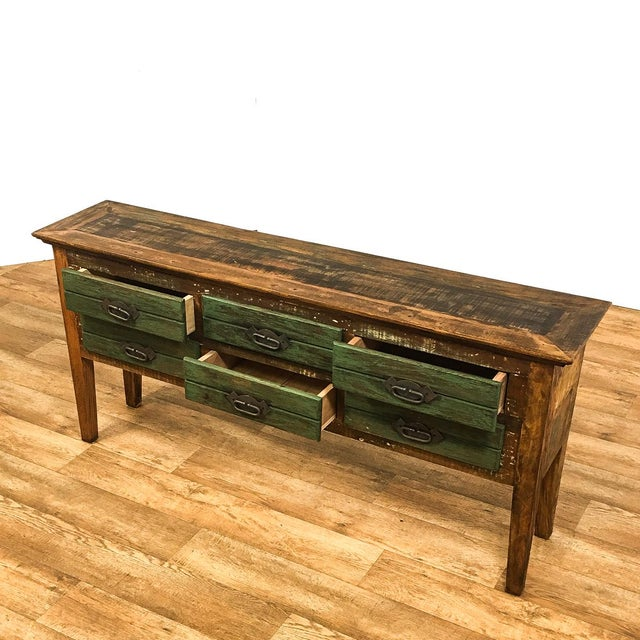 Save the planet reclaimed solid wood antique rustic six