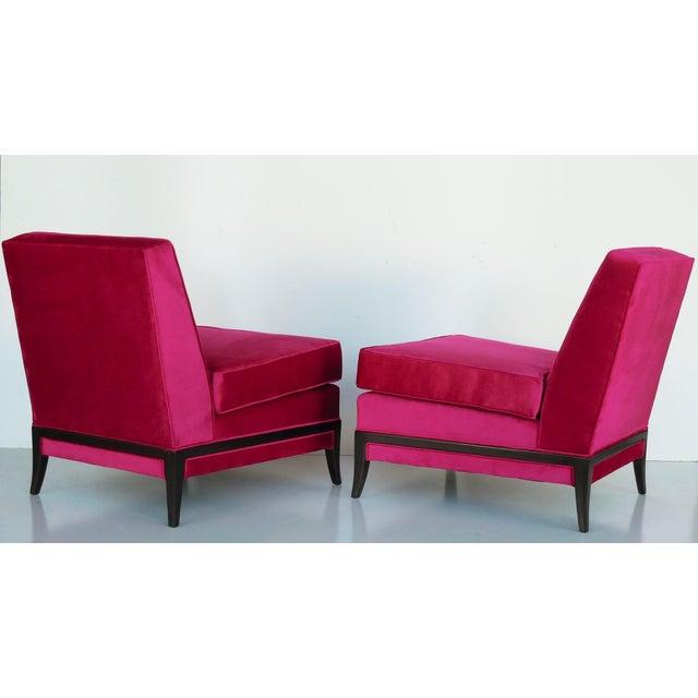 Pair of Midcentury Tommi Parzinger Lounge Chairs - Image 2 of 8