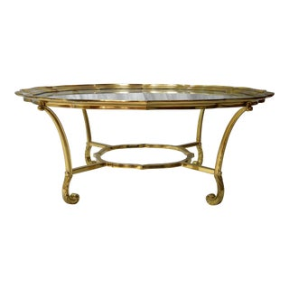 La Barge Hollywood Regency Scalloped Edge Table