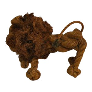 Vintage 1960s Danish Rope Lion