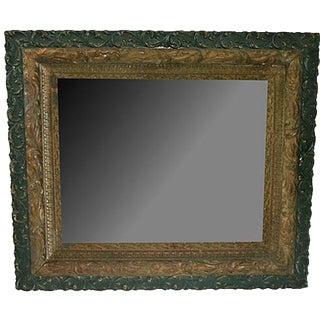 19th-C. Victorian Gold-Leaf & Green Mirror